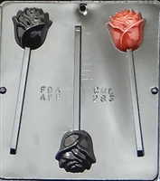 283 Rose Lollipop Chocolate Candy Mold