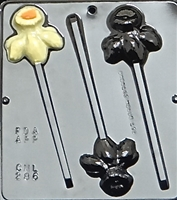 286 Daffodil Lollipop Chocolate Candy Mold