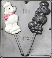 294 Poodle Lollipop Chocolate Candy Mold