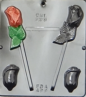 299 Rose Assembly Pop Lollipop Chocolate Candy Mold