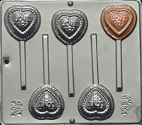 3001 Heart on Heart Lollipop Chocolate