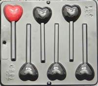 3003 Plain Small Heart Pops Lollipop