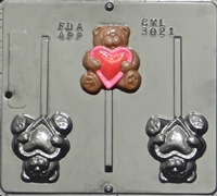 3021 Bear with Heart Pop Lollipop