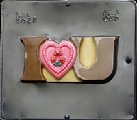 3027 I Love You Chocolate Candy Mold