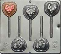 3031 Love on Heart Pop Lollipop 
