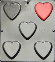 3034 Plain Heart Chocolate Candy Mold