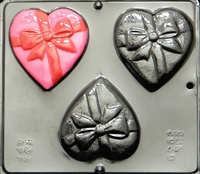 3040 Heart with Bow Chocolate Candy
