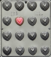3042 Heart Pieces Chocolate Candy 