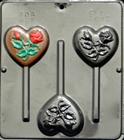 3045 Heart with Rose Pop Lollipop