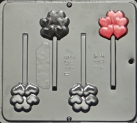 3061 Heart Cluster Pop Lollipop Chocolate Candy Mold