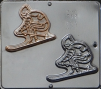 312 Skier Chocolate Candy Mold