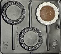 3302 Plain Pop Scalloped Lollipop Chocolate Candy Mold