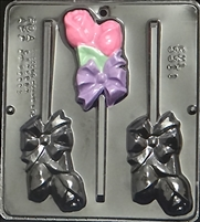 3311 Double Rose Lollipop Chocolate Candy Mold