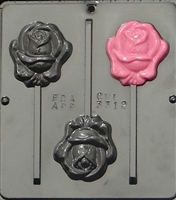 3312 Rose Lollipop Chocolate Candy Mold