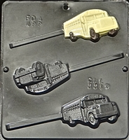 3314 School Bus Lollipop Chocolate Candy Mold