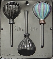 3324 Hot Air Balloons Lollipop Chocolate Candy Mold