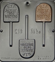 "3326 R.I.P. ""Really Into Partying"" Lollipop Chocolate Candy Mold"