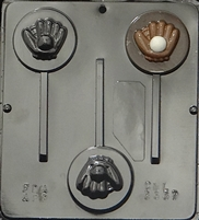 3337 Baseball & Glove Lollipop Chocolate Candy Mold