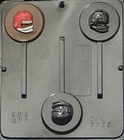 3339 Football Helmet Lollipop Chocolate Candy Mold