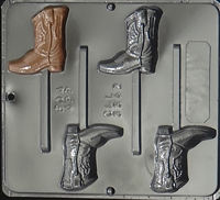 3342 Cowboy Boot Lollipop Chocolate Candy Mold