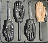 3343 Hand Lollipop Chocolate Candy Mold