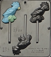 3346 Tropical Bird Lollipop Chocolate Candy Mold