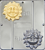 3350 Sun Lollipop Chocolate Candy Mold