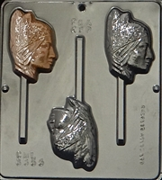 3355 Indian Squaw Lollipop Chocolate Candy Mold