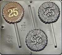 "3384 ""25"" POP Lollipop Chocolate Candy Mold"