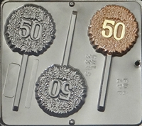 "3385 ""50"" POP Lollipop Chocolate Candy Mold"