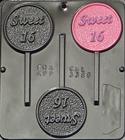 3386 Sweet 16 Lollipop Chocolate Candy Mold