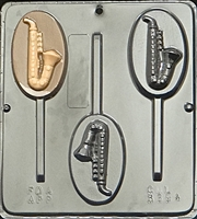 3394 Saxophone Lollipop Chocolate Candy Mold