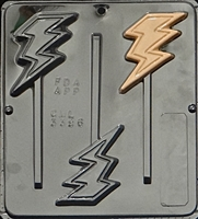 3396 Lightning Bolt Lollipop Chocolate Candy Mold