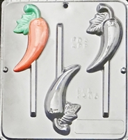 3405 Chili Pepper Lollipop Chocolate Candy Mold