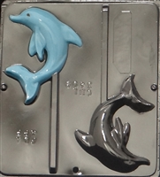3409 Dolphin Lollipop Chocolate Candy Mold