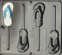 3412 Flip Flop Lollipop Chocolate Candy Mold