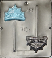 "3418 ""Prince"" Crown Lollipop Chocolate Candy Molds"