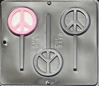 3419 Peace Symbol Lollipop Chocolate Candy Mold