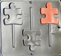 3420 Autism Symbol Lollipop Chocolate Candy Mold