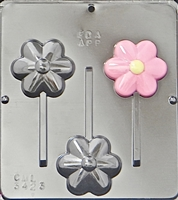 3423 Flower Lollipop Chocolate Candy Mold