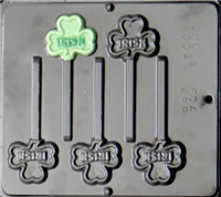 4003 IRISH Clover St. Patrick's Day Lollipop Candy Mold