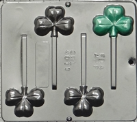 4011 St. Patrick's Day Shamrock Lollipop Candy Mold