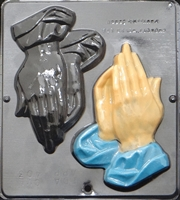 403 Large Praying Hands Chocolate Candy Mold