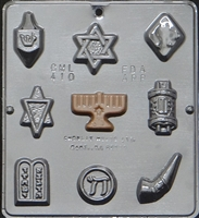 410 Jewish Assortment Chocolate Candy Mold