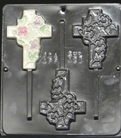 421 Cross Pop Vine Lollipop Chocolate Candy Mold