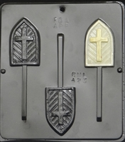 423 Cross on Window Lollipop Chocolate Candy Mold