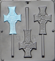 425 Celtic Cross Lollipop Chocolate Candy Mold