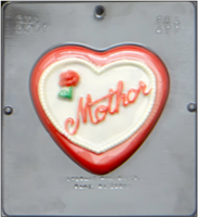 5001 Mother on Heart Chocolate Candy Mold
