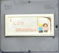 5004 I Luv Grandma Card Chocolate Candy Mold