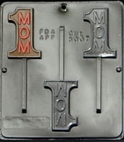 5007 #1 Mom Lollipop Chocolate Candy Mold